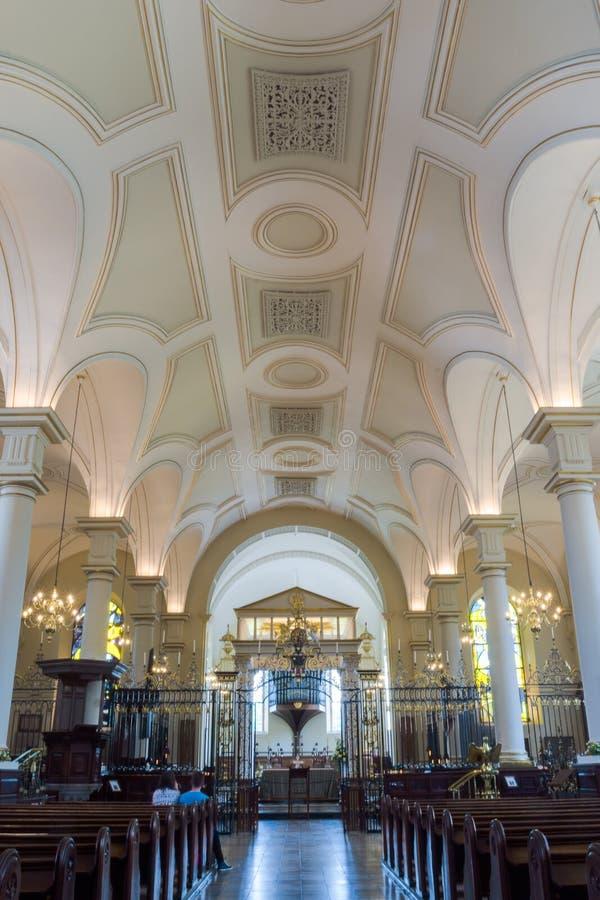 Fotografia do vertical de Derby Cathedral Nave Ceiling HDR imagem de stock