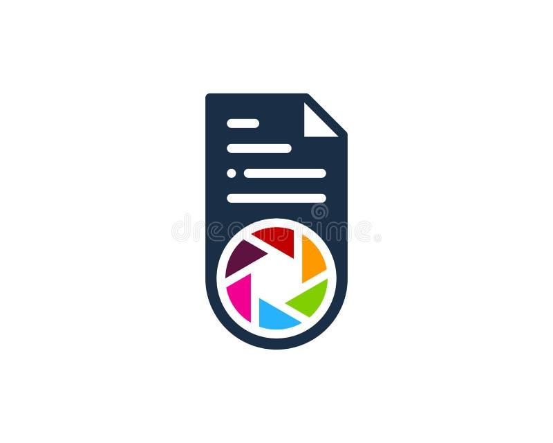 Fotografia dokumentu ikony loga projekta element ilustracji