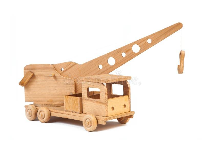 Fotografia drewniana żuraw ciężarówka zdjęcia stock
