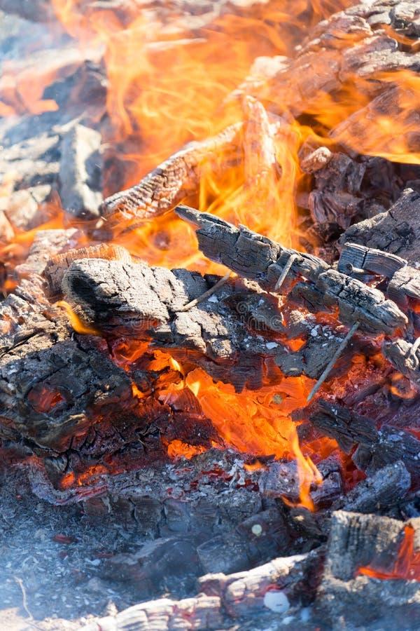 Fotografia gorący węgle Tło Miejsce dla twój teksta zdjęcie stock