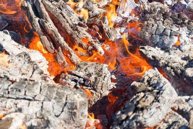 Fotografia gorący węgle Tło Miejsce dla twój teksta obraz royalty free