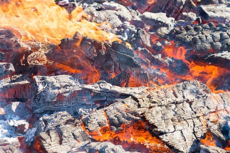 Fotografia gorący węgle Tło Miejsce dla twój teksta zdjęcie royalty free
