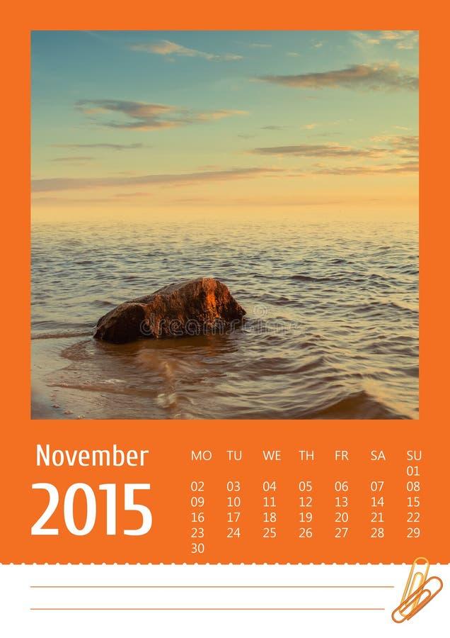 2015 fotografia kalendarz nowenna obraz stock