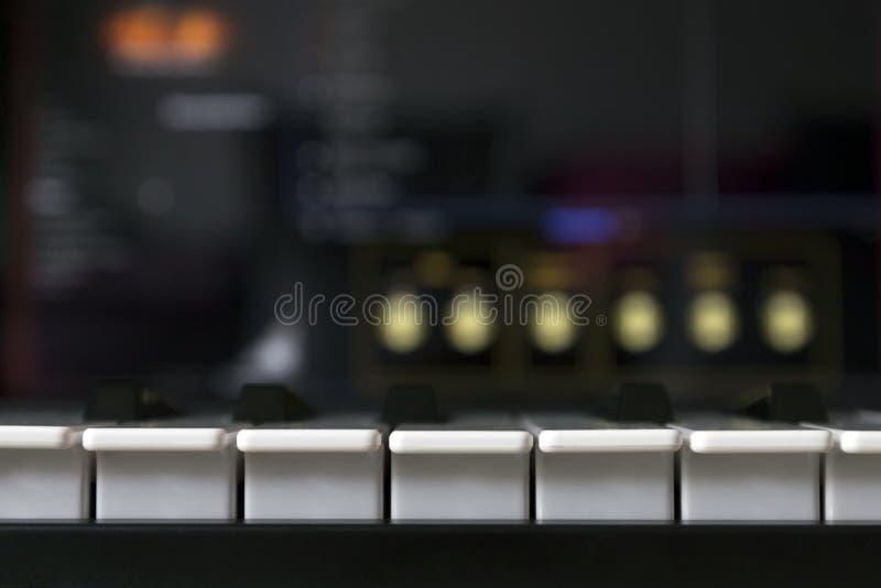 Fotografia klawiatury i komputer zdjęcia stock