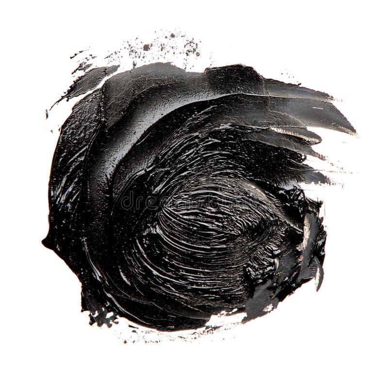 Fotografia kolorowego czerni muśnięcia uderzenia nafciana farba fotografia stock