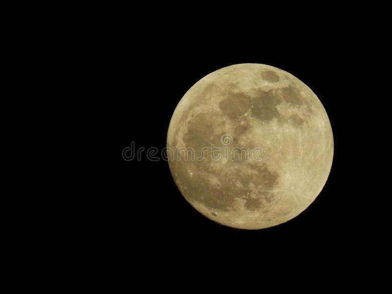 Fotografia księżyc w pełni od Włoskiego nieba obrazy stock