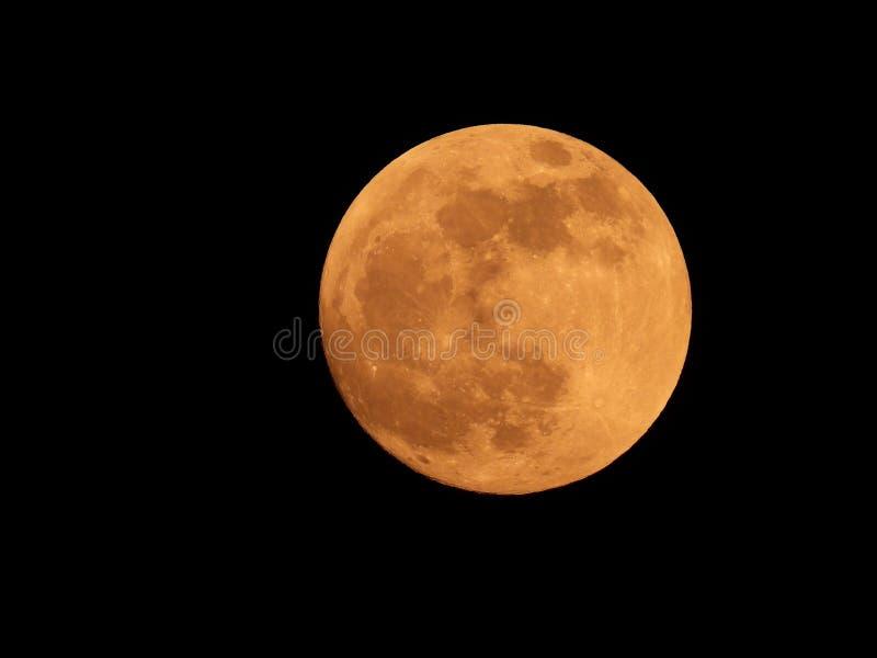 Fotografia księżyc w pełni od Włoskiego nieba zdjęcia stock