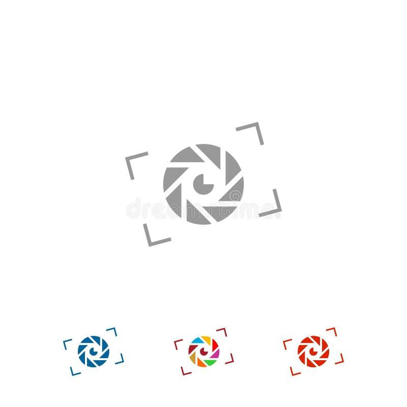Fotografia logo projekt łatwe tło ikony zamieniają przejrzystego cienia wektor royalty ilustracja