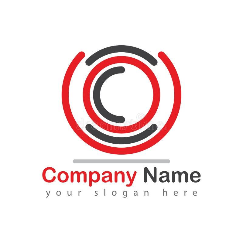 Fotografia logo z kamera obiektywem ilustracja wektor