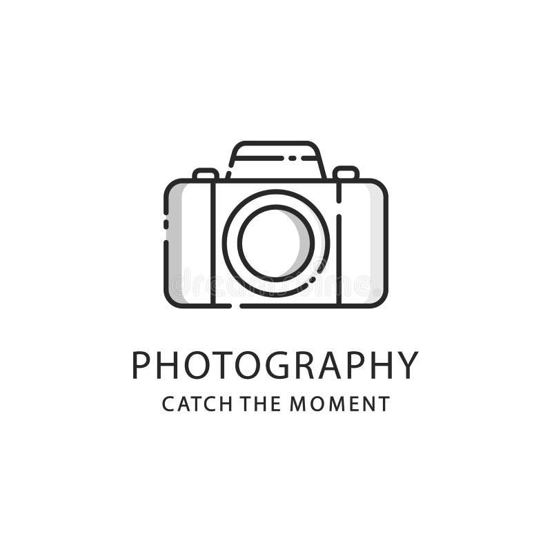 Fotografia logo znak Fotografii kamery emblemat ilustracja wektor
