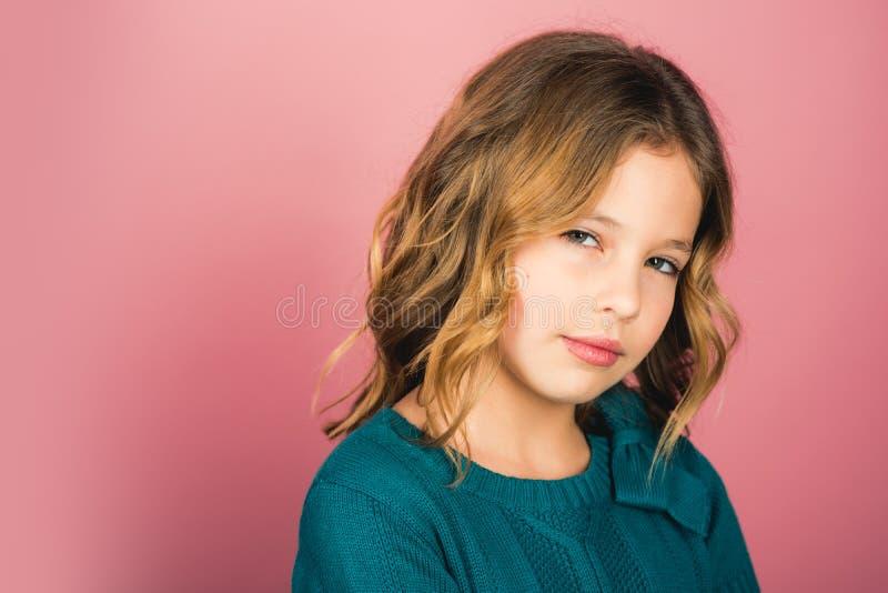 Fotografia mała córka mała dziewczynka, kopii przestrzeń obrazy royalty free