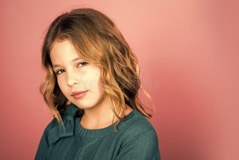 Fotografia mała córka mała dziewczynka, kopii przestrzeń zdjęcie stock