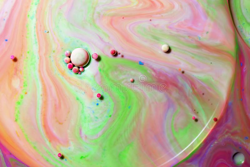 Fotografia macro de bolhas coloridas VII fotos de stock