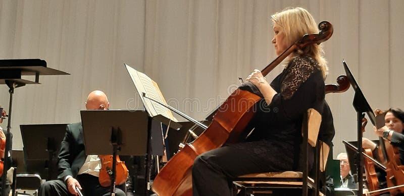Fotografia muzyk przy koncertem Musicalu koncert w Filharmonicznym zdjęcia royalty free