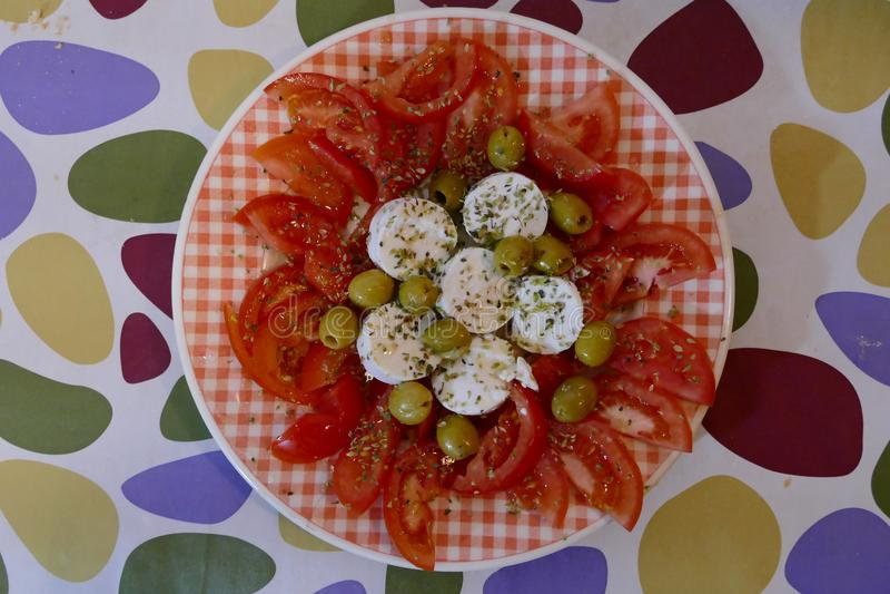 Fotografia obrazek włoska mozzarella i pomidor caprese fotografia stock