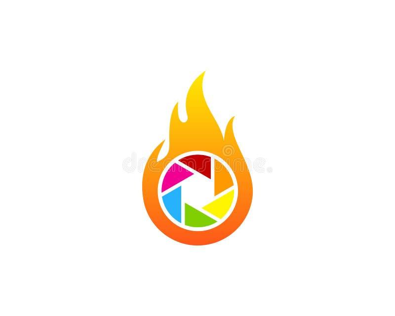 Fotografia ogienia płomienia ikony loga projekta element ilustracja wektor