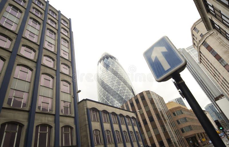 Fotografia panorâmico do distrito da central de Londres fotos de stock royalty free