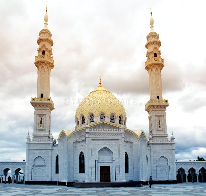 Fotografia piękny niezwykły Biały meczet obraz royalty free