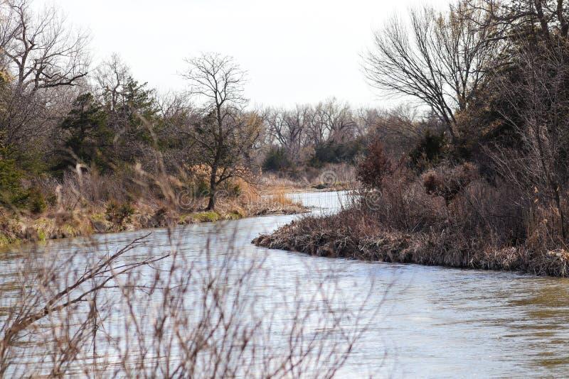 fotografia Platte rzeka w Nebraska zdjęcia stock