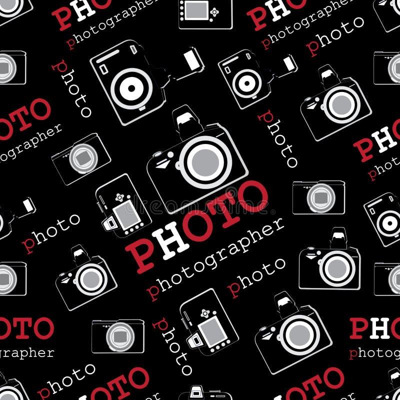 Fotografia podpisy i kamery fotografia fotograf ilustracja wektor