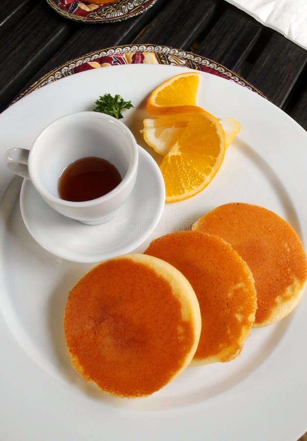 Bliny dla śniadania obraz stock
