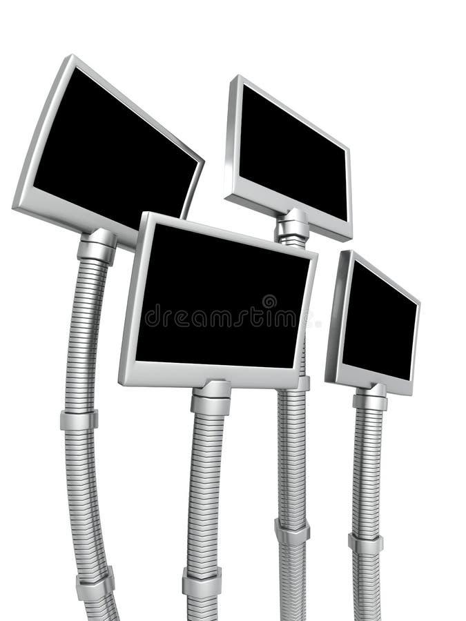 fotografia ramowy futurystyczny odosobniony stojak ilustracja wektor