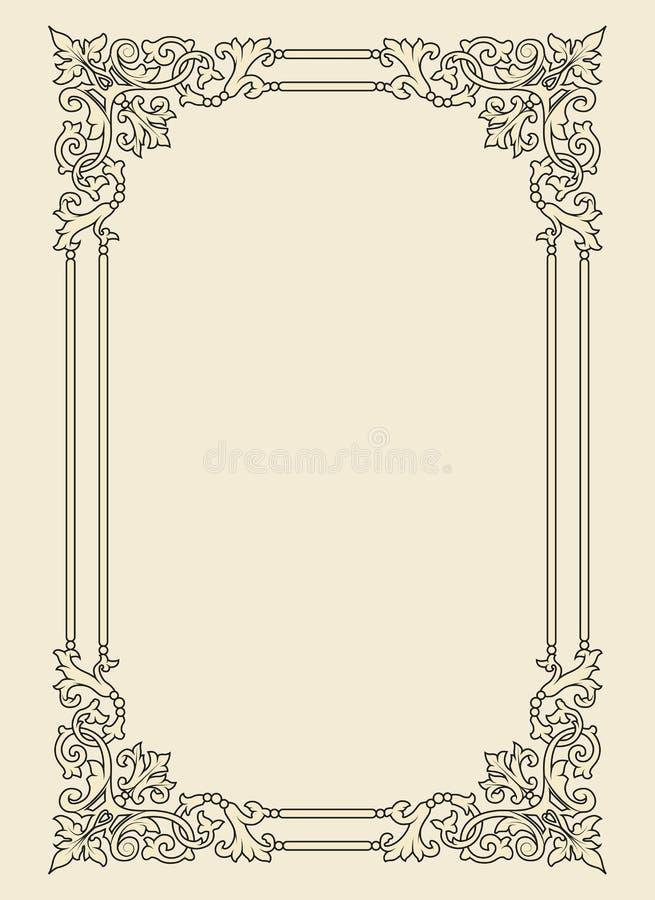 fotografia ramowy ornamentacyjny rocznik royalty ilustracja