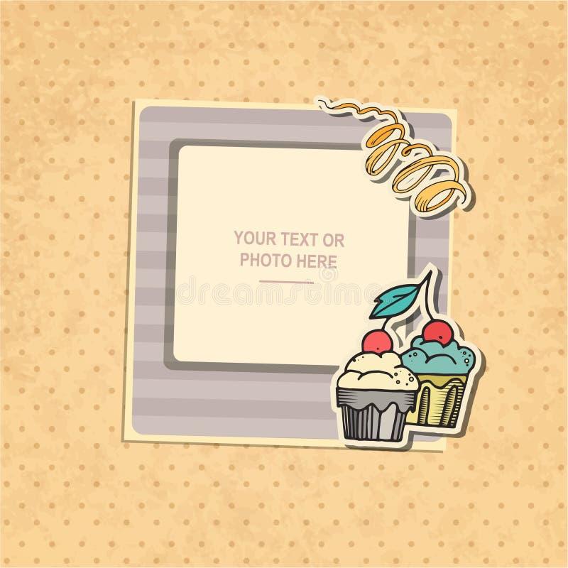 Fotografia ramowy urodziny ilustracja wektor