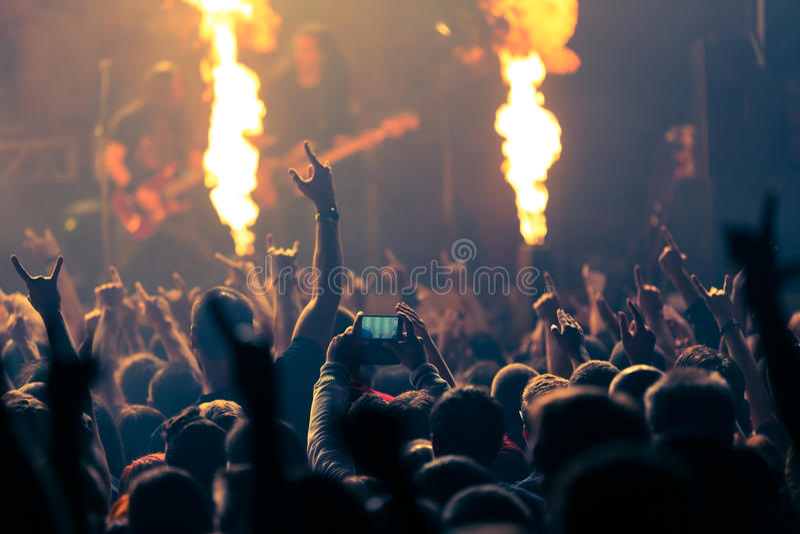 Fotografia rockowy koncert zdjęcia stock