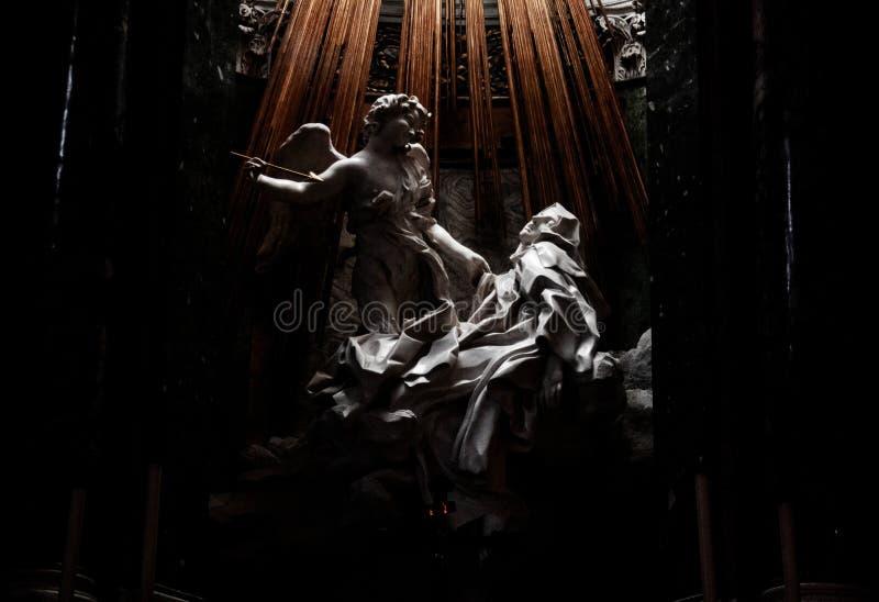 Fotografia rzeźby ekstaza Santa Teresa obrazy stock