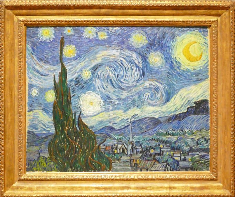 Fotografia sławny oryginalny obraz: ` Gwiaździstej nocy ` Vincent Van Gogh obrazy royalty free