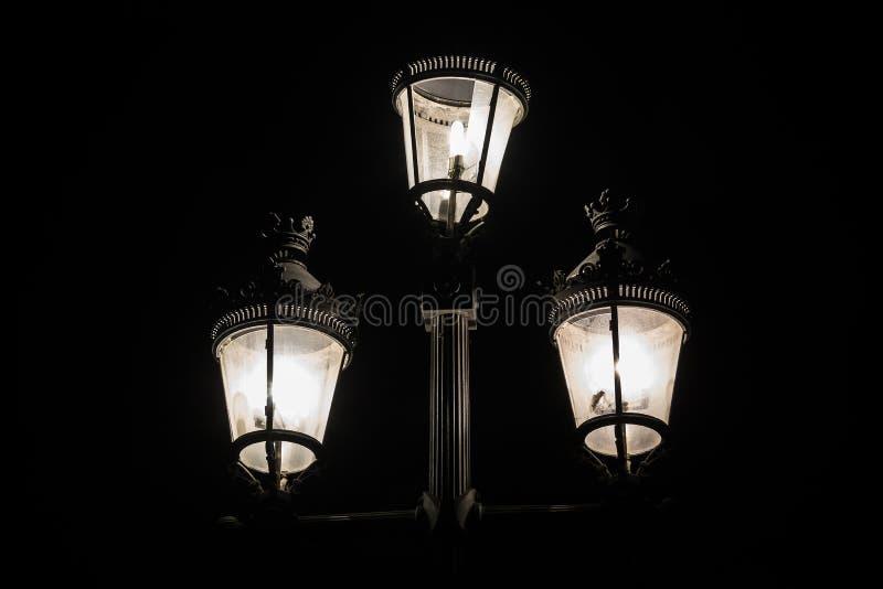 Fotografia scura del lampione immagine stock libera da diritti