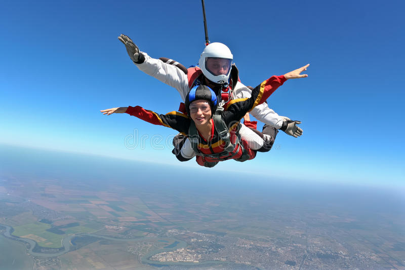 fotografia skydiving zdjęcie stock