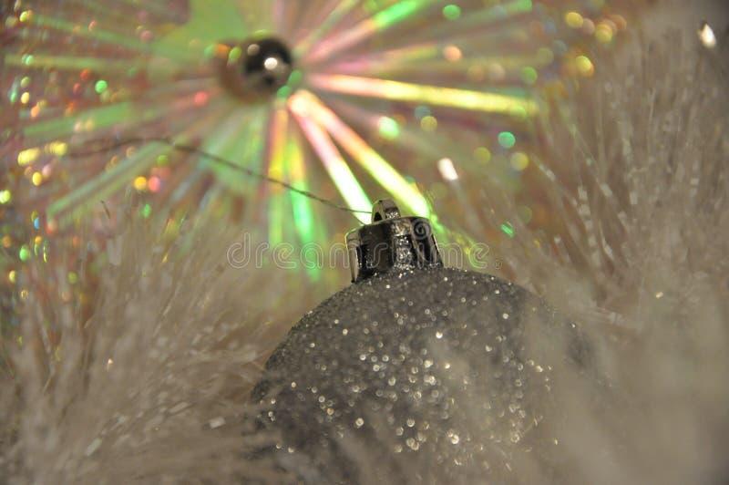 Fotografia Sparkly da decoração do feriado morno imagem de stock royalty free