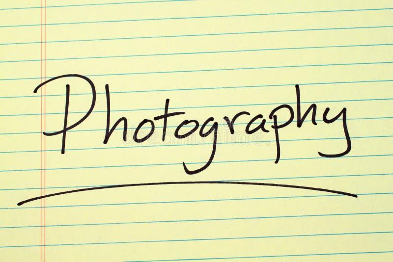 Fotografia su un blocco note giallo fotografia stock libera da diritti