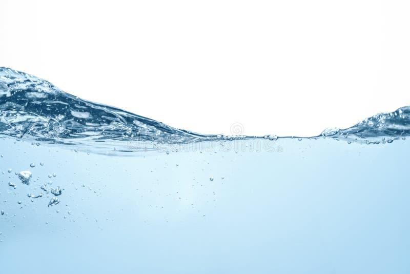 Fotografia subaquática da onda de água azul do strom da cena do oceano fotos de stock royalty free