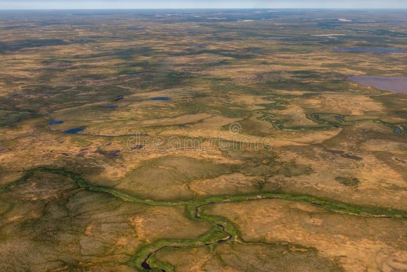 Fotografia tundra od above obrazy stock