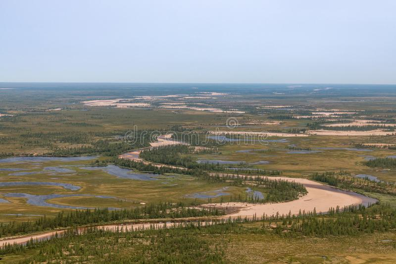 Fotografia tundra od above zdjęcia royalty free
