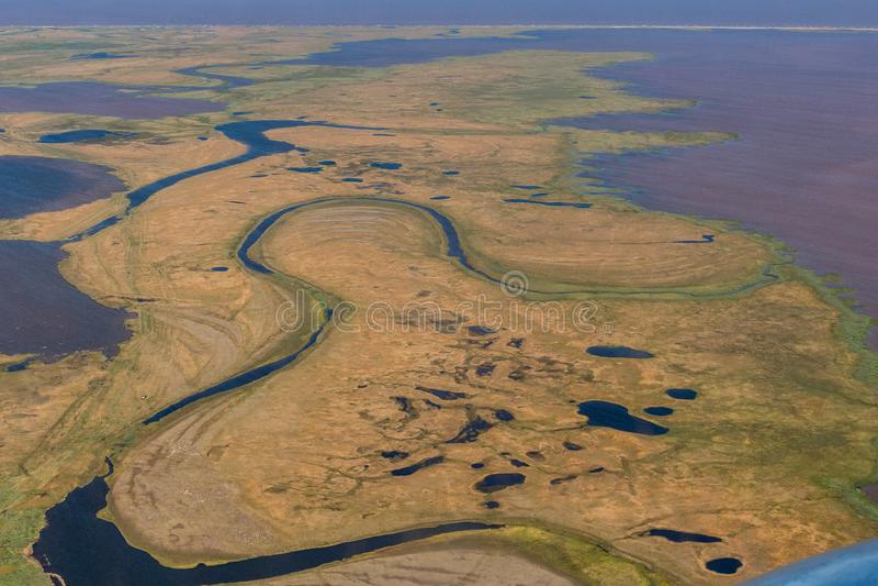 Fotografia tundra od above zdjęcia stock