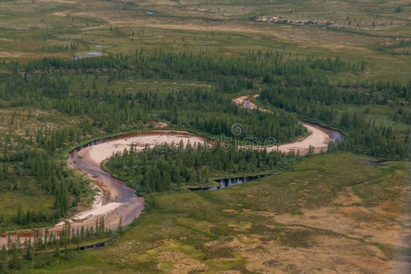 Fotografia tundra od above obraz stock