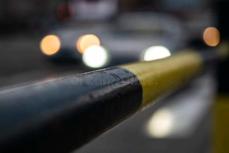 Fotografia uliczny płotowy kolor żółty obraz stock