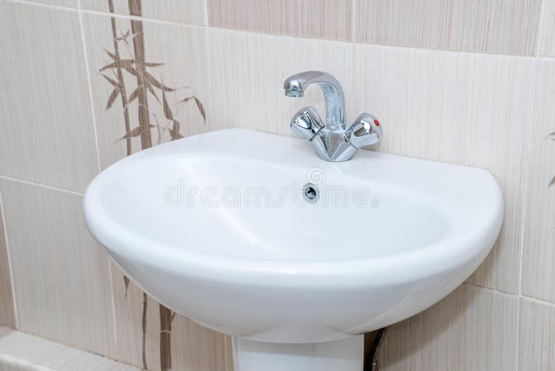 Fotografia zlew w łazience zdjęcie stock
