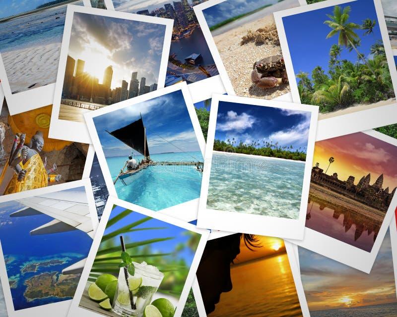 Fotografias do curso e memórias do feriado fotografia de stock