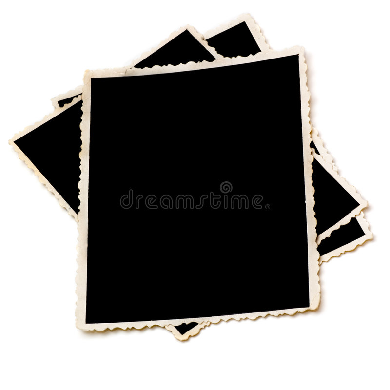 Fotografias velhas com borda rasgada foto de stock