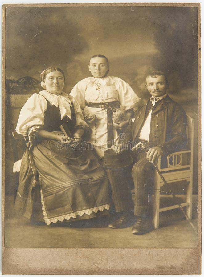 Fotografias velhas do século dos anos 20 adiantados foto de stock