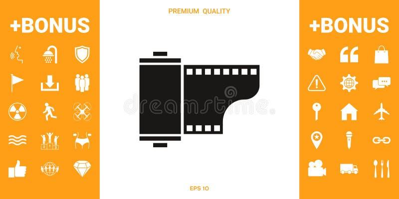 Fotograficznego filmu kasety ikona ilustracji