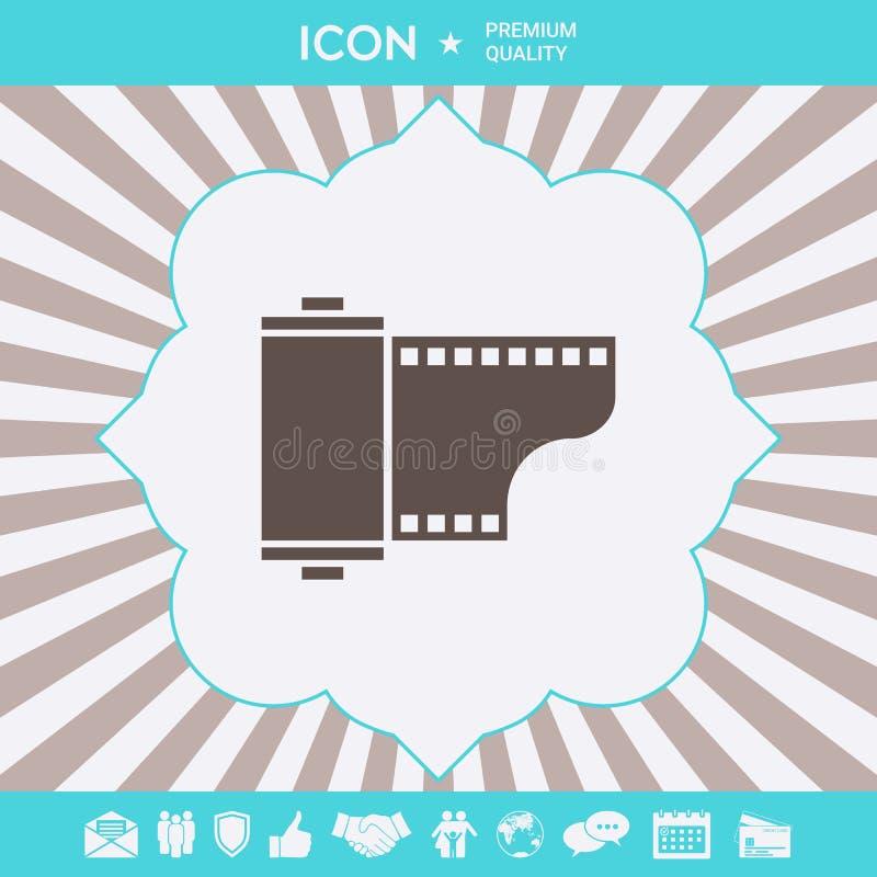 Fotograficznego filmu kasety ikona Graficzni elementy dla tw?j projekta ilustracji