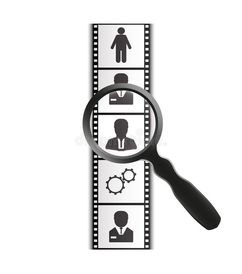 Fotograficzny film i powiększać - szkło ilustracji