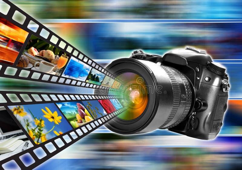 Fotografie & Beeld die Concept delen royalty-vrije illustratie