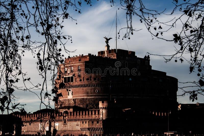 Fotografie des des Schlosses Sant 'Angelo, Rom stockfotografie